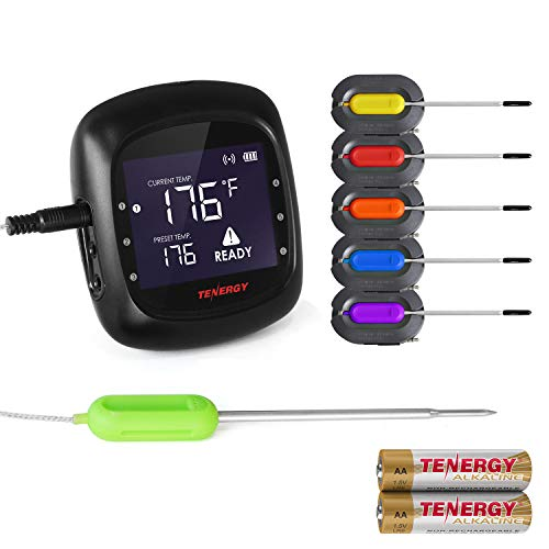 Tenergy Solis Digital Meat Thermometer, APP Controlled Wireless Bluetooth