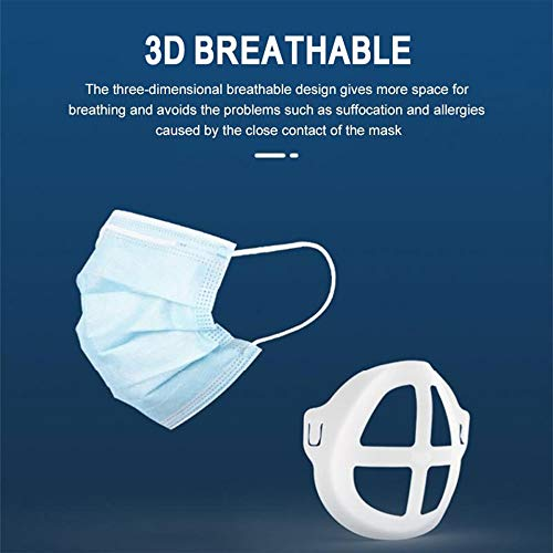 Mengen88 10 Pcs 3D Silicone Bracket for Face Lipstick Protection Stand Nasal Pad, Prevent Makeup Removal Lipstick Enhance Breathing Space, for Kids Adults,L