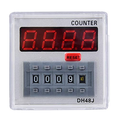 Relé de contador digital Pantalla LED Sistema de módulo de interruptor de control remoto automático DH48J-A 24V/220V 1-999900 11 pines(24VAC/DC)
