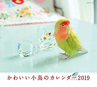 2019年ミニカレンダー かわいい小鳥のカレンダー