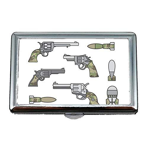 Portafoglio portasigarette, pistola a pistola, portasigarette/scatola, mortaio a pistola, porta biglietti da visita Porta biglietti da visita in acciaio inossidabile