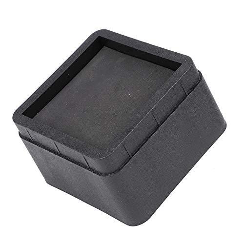 "Vikenar 4PCS Durable stapelbare Bett Riser Black Square 2 ""Möbelfüße Bodenfüße Protektoren"