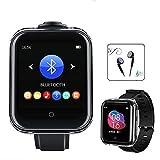 Reproductor MP3 con Bluetooth 5.0 con correa de reloj, altavoz integrado de 16 GB, pantalla táctil completa, reproductor de música MP3 portátil, compatible con podómetro, radio FM, vídeo