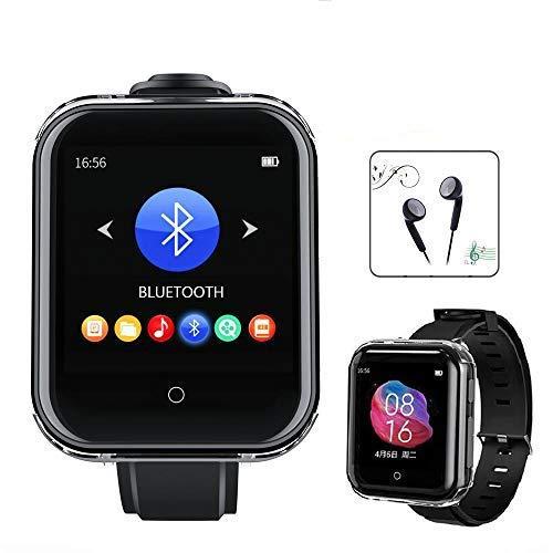 Bluetooth5.0 MP3-Player mit Uhrenarmband Eingebauter Lautsprecher 16 GB Voller Touchscreen Tragbarer Mini-Sport-MP3-Musik-Player, Unterstützung für Schrittzähler, FM-Radio, Recorder, E-Book, Video