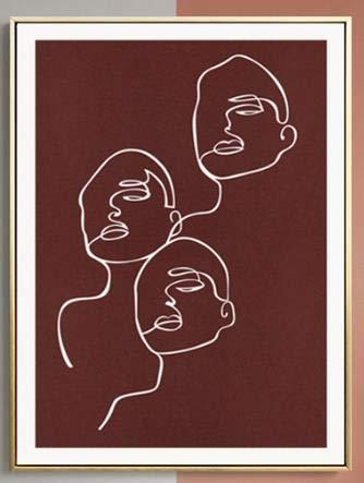 Línea de pintura al óleo artística de Matisse, lienzo de pintura abstracta, póster de estilo nórdico, impresiones de lienzo decorativo sin marco familiar C 20x30cm