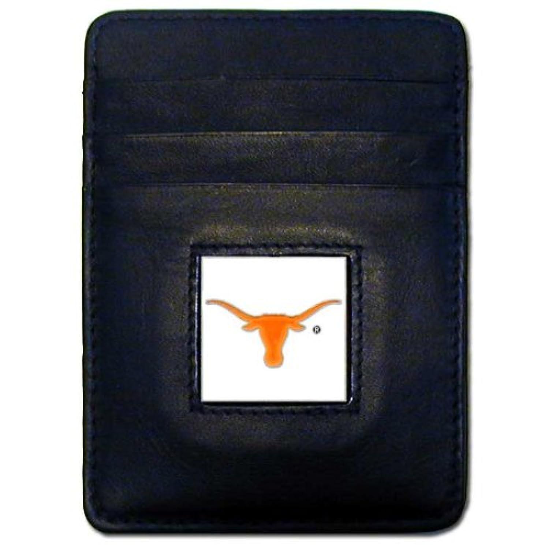 NCAAテキサスLonghornsレザーマネークリップ/Cardholder Wallet