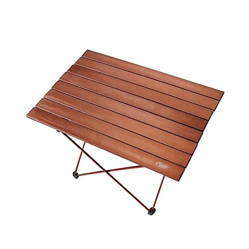 Kaidanwang Housewares Folding Table Foldable Outdoor/Indoor All-Purpose Wooden Table for Picnics, Camping, Beach, Patio Carrying Case,Portable Small Aluminum Table