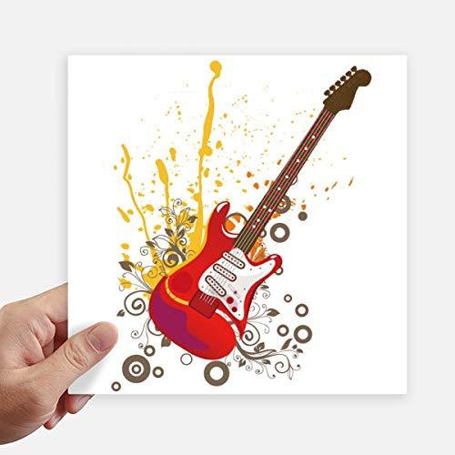 DIYthinker Elektrische gitaar Jazz Muziek Cultuur Vierkant Stickers 20Cm Muur koffer Laptop Motobike Decal 4 Stks