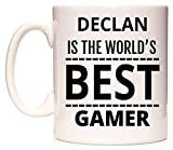 WeDoMugs Declan is The World's Best Gamer Becher
