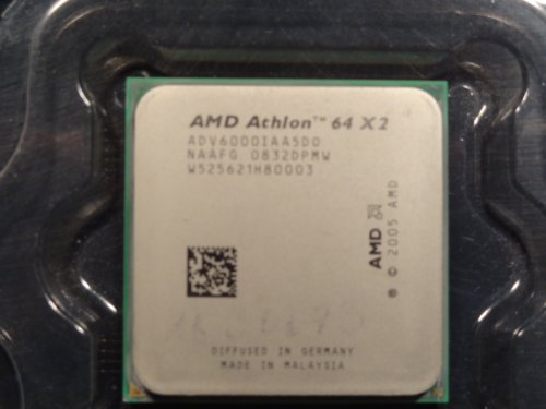 AMD AM2 Athlon 64 X2 6000+ 3.1GHz 0.512MB L2 Caja - Procesador (AMD Athlon X2, 3,1 GHz, Socket AM2, 65 NM, 64 bits, 0,512 MB)