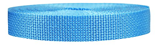 Strapworks Lightweight Polypropylene Webbing - Poly Strapping for Outdoor DIY Gear Repair, Pet Collars, Crafts – 3/4 Inch by 10, 25, or 50 Yards, Over 20 Colors, Powder Blue, 3/4' x 50 Yard
