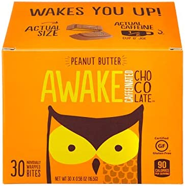 AWAKE Caffeinated Chocolate Energy Bites Peanut Butter 30Count product image