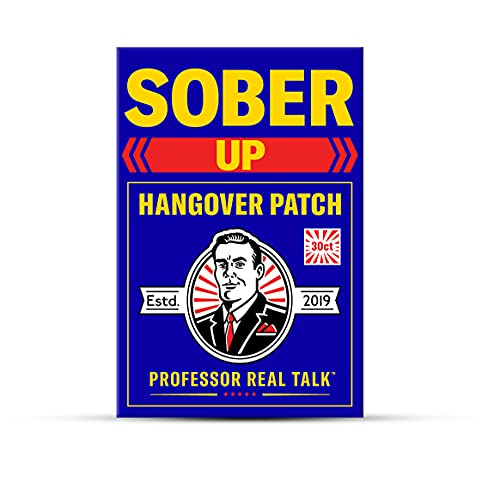 Hangover Patch for Hangover Cure & Hangover Prevention (30 Hangover Patches)   Hangover Kit Supplies Alternative to Hangover Pills & Hangover Drinks   Sober Up by Professor Real Talk