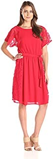 AGB Women's Night and Day Lace-Trim Dress