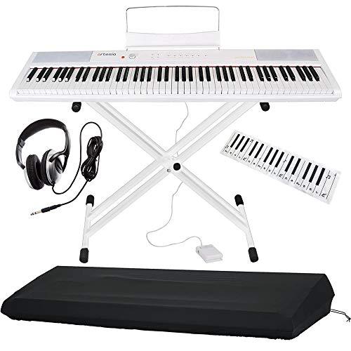 Artesia 電子ピアノ バリューセット 88鍵 PERFORMER/WH ホワイト (サスティンペダル/スタンド/ヘッドフォン/鍵盤デザインクロス付属) + GATOR製ピアノカバー付き