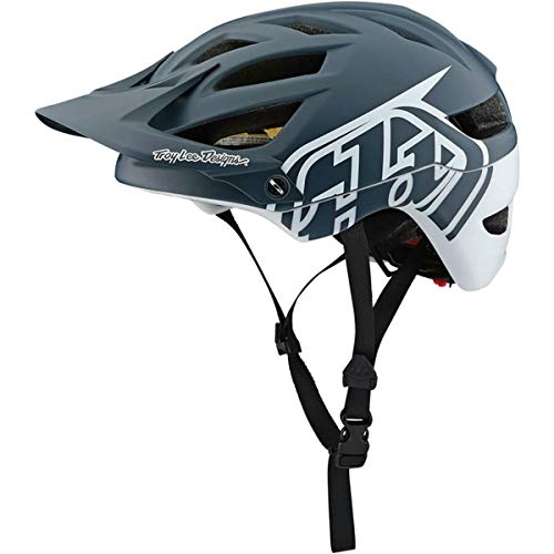 Troy Lee Design Casco MTB TLD Modelo A1 Classic 2018/2019 con MIPS Color Gray/White