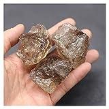 YSJJJBR Piedra Natural 100% Natural Smoky Crystal Cuarzo de Cuarzo Decoración casera áspera Muestra Mineral o decoración de jardín Acuario (Farbe : Smoky, Größe : 2pcs (2 3cm))
