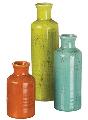 Sullivans Ceramic Vase Set, Rustic Home Décor, Set of 3 Vases