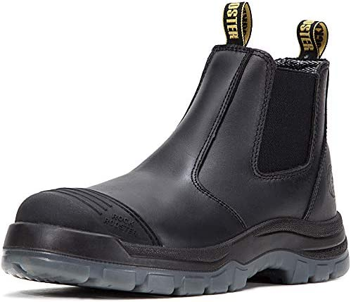 ROCKROOSTER Work Boots for Men 6 inch Steel Toe Slip On Safety Oiled Leather Shoes Static Dissipative product image