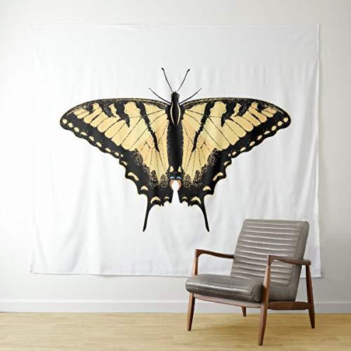 Tapiz de mariposa de cola de golondrina de tigre para colgar en la pared, tapiz psicodélico, decoración de dormitorio, sala de estar, dormitorio de 149 x 99 cm