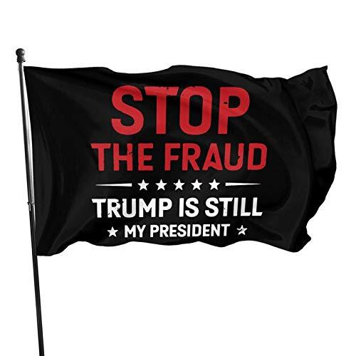 WH-CLA Bandera De La Casa Detener El Fraude Trump Sigue Siendo Mi Presidente Toda La Temporada Granja Impresión Al Aire Libre Festival Yard Flag Interior Wall Banners Decoración Patio TR