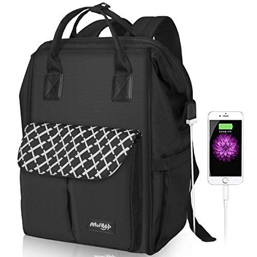Arrontop Laptop Backpack With Usb Charging Port 15.6 Inch Durable Business Bag Water Resistant School Stylish Backpack