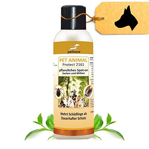 Peticare Spot-On Zecken-Schutz für Hunde, Katzen - Schutz für eine Saison, auch gegen Milben und Flöhe, pflanzliche Inhaltsstoffe, ohne giftige Chemie - petAnimal Protect 2161