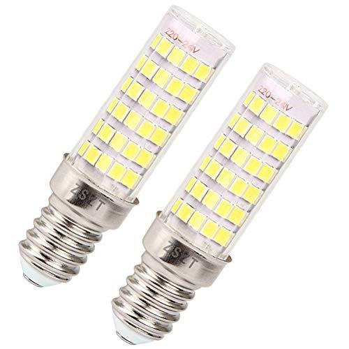 Dunstabzugshaube glühbirne LED E14 7W, Ersatz für 50W Halogenlampen, Kaltweiß 6000K, AC220V-240V, kompakter Bauweise (2er-Pack)