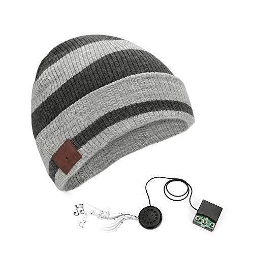 BestCool Berretto Lavorato a Maglia Bluetooth, Cappello Musicale Wireless Berretto Invernale Ricaricabile USB con Cuffia incorporata Cuffie Stereo Super Bass Che Fanno Una Chiamata telefonica