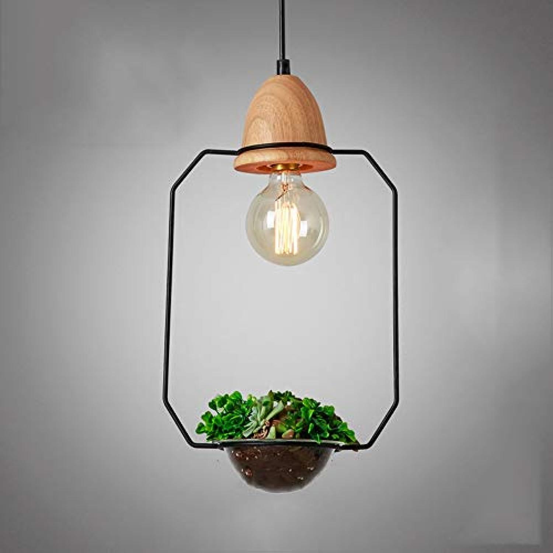 ●  Pflanze Pendelleuchte Holz Einfache Kronleuchter Einfache Stil Kostenlose Dekoration Pflanze Kronleuchter Kreative Persnlichkeit Restaurant Deckenleuchten Bar Pendelleuchte Balkon Hngelampe (Gr