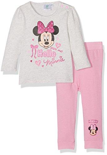 Disney Minnie Disney Baby-Mädchen 160854 Zweiteiliger Schlafanzug, Multicolore (Gris/Rose), 0-3 (Herstellergröße: 3 Monate)