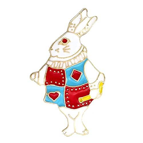 Ruby569y Broschennadel, niedlich, kreativ, für Jacken, Rucksäcke, Kleidung, Mini-Hasen-Form, niedliches Kaninchen-Kragenbrosche, Reversnadel, Rucksack-Zubehör – 2