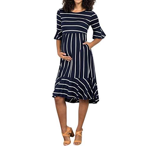 Allence Frauen Umstandskleid Schwangerschaft Kleid, Umstandsmode Damen Kleider Sexy Stillkleid Umstandsnachthemd Für Schwangere Und Stillzeit