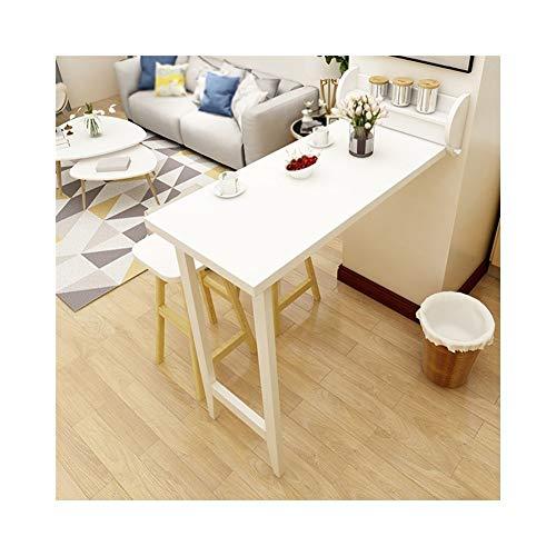 AJZGF Arbeitsbereich-Organisator Klappbarer Bartisch, Trennwandschrank, Wandtisch, einfacher Esstisch (Farbe : Weiß)