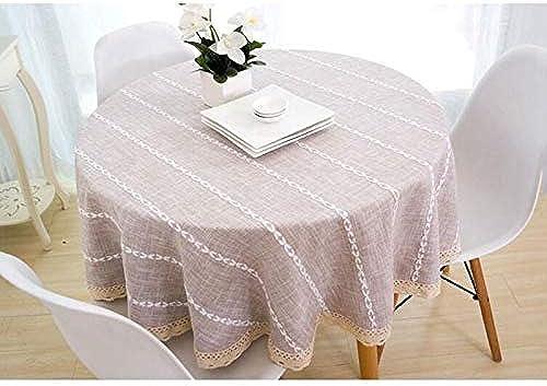 Nappe, nappes en lin et coton Couvertures en lin pour table rectangulaire (Couleur   marron-a, taille   230CM)