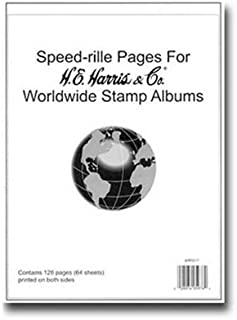 H.E. Harris Speed-rille Pages for Worldwide Album