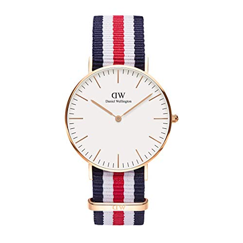 Daniel Wellington Classic Canterbury Rose Gold Watch, 40mm, Nato, for Men and Women