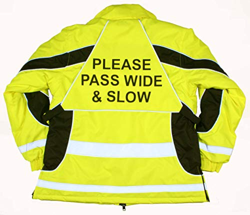 Equisafety Aspey Giacca Invernale Impermeabile, Unisex, High Viz Yellow/Black, XL