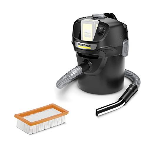 Kärcher AD 2 Battery Aschesauger und Trockensauger (mit Filterreinigung, 14-Liter-Metallbehälter, Reinigung ohne Schmutzkontakt, 18-V-Akkuplattform)