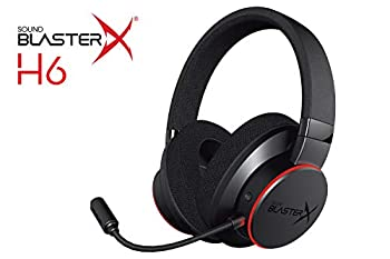Sound BlasterX H6 USB Gaming Headset with 7.1 Virtual Surround Sound Memory Foam Fabric Earpads Hardware EQ Modes Ambient Monitoring and RGB Lighting for PS4 Xbox One Nintendo Switch and PC
