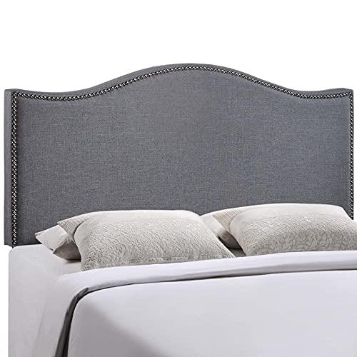 Modway Curl Linen Fabric Upholstered Queen...