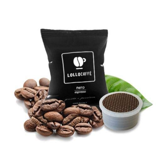 100 Cialde Capsule Compatibili Lavazza Espresso Point Lollo Caffe' Nero Espresso