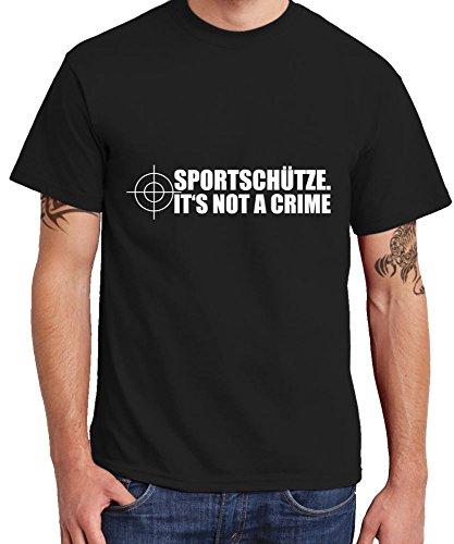 - Sportschütze. - Boys T-Shirt Farbe Schwarz, Größe XL