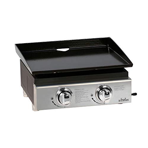 BIGHORN Gas Plancha BBQ Grill Portable Griddle Outdoor Garden Enameled Cast...