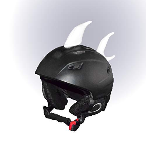 Helm-Ohren Tierohren für den Skihelm, Snowboardhelm, Kinder-Helm, Kinder-Skihelm oder Motorradhelm - Verrücktes Helm-Cover für Kinder und Erwachsene HELMDEKO (Hai Weiß)