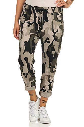 Maty Fashion - Pantalones de algodón para mujer, estilo boyfriend, 40 beige 38-44