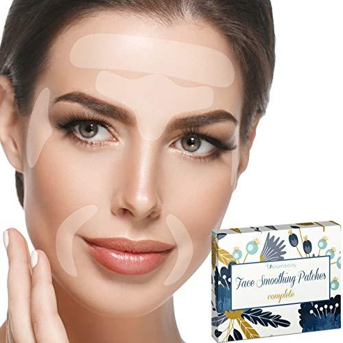 Blumbody Strisce Antirughe per il Viso - 240 Facial Cerotti per la Rimozione delle Rughe de Fronte, Occhi, Bocca - Riutilizzabili Rughe Patch per il Trattamento Anti - Invecchiamento