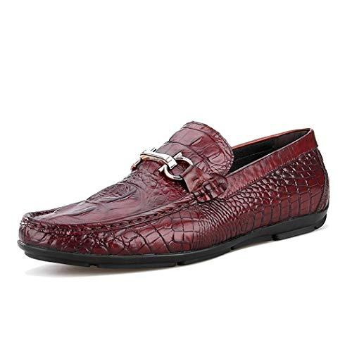RSHENG Horsebit Loafers Herren handgefertigte Business Schuhe atmungsaktiv Mode klassischen Stil Casual Schuhe Driving Schuhe