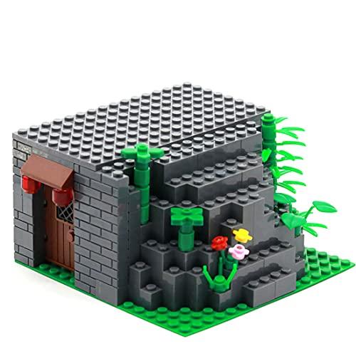 SESAY Juego de accesorios para armas militares WW2, modelo de casa de piedra, WW2, accesorios para simular escenas militares, compatible con Lego