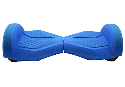 Azul - Carcasa de Silicona piel para Funda en 8 pulgadas Smart de Equilibrio Patinete Eléctrico Hoverboard Scooter